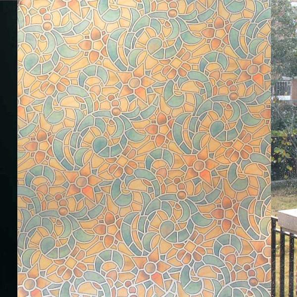 风格欧式风格巴洛克 彩色磨砂玻璃窗户贴膜