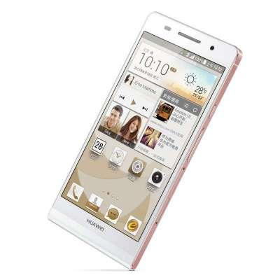 华为手机p6-c00(白色)(玫瑰金边框)