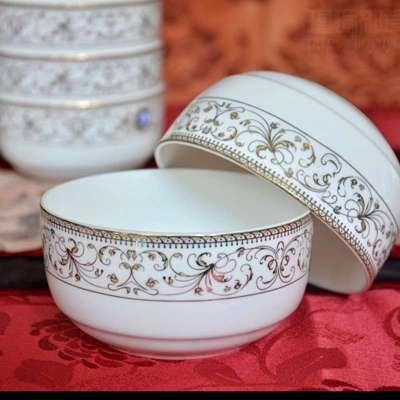 【瑾瑜御瓷】景德镇陶瓷餐具套装 56头欧式碗盘碟骨瓷餐具太阳岛