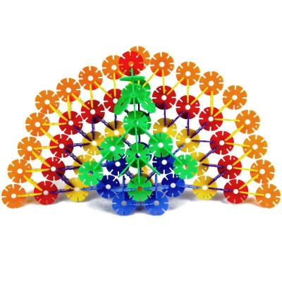 新泰阳 加厚雪花片积木儿童益智玩具乐高式塑料拼装拼插宝宝礼物110片