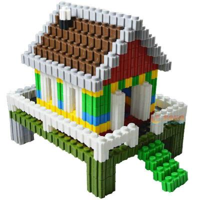 万能百变积木拼插3d立体拼图乐高式塑料玩具