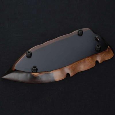 束氏黑檀木树叶茶盘 天然整块木雕刻正宗黑檀实木茶盘茶具