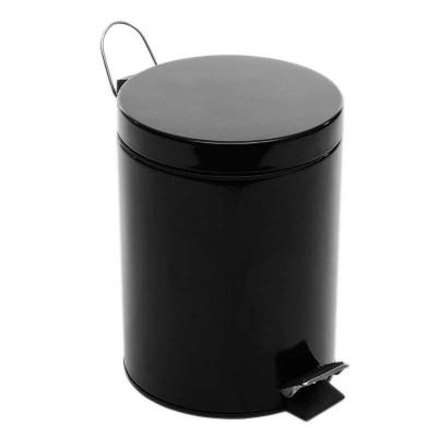 家用脚踏垃圾桶黑色