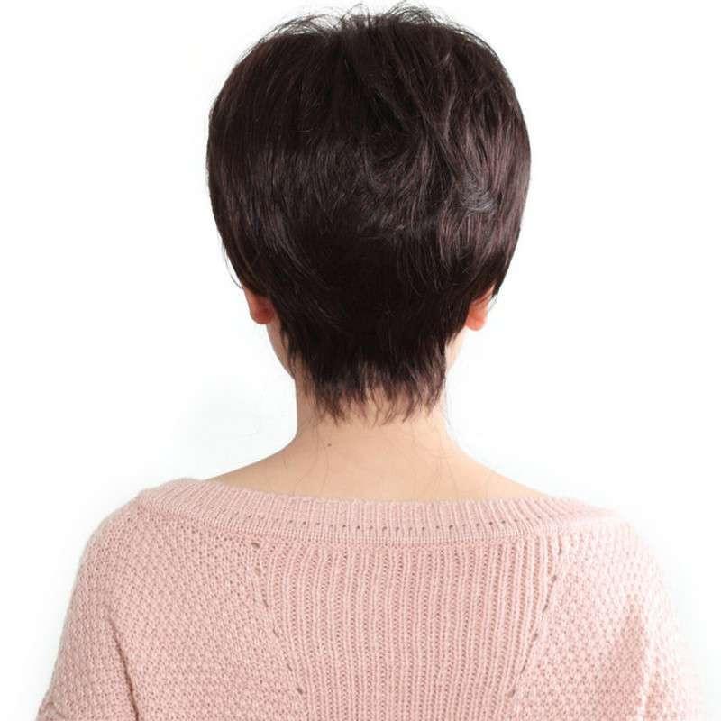 玫瑰雨 女士假发套 中老年知性假发短发女士假发套 jiafa 送妈妈高清图片