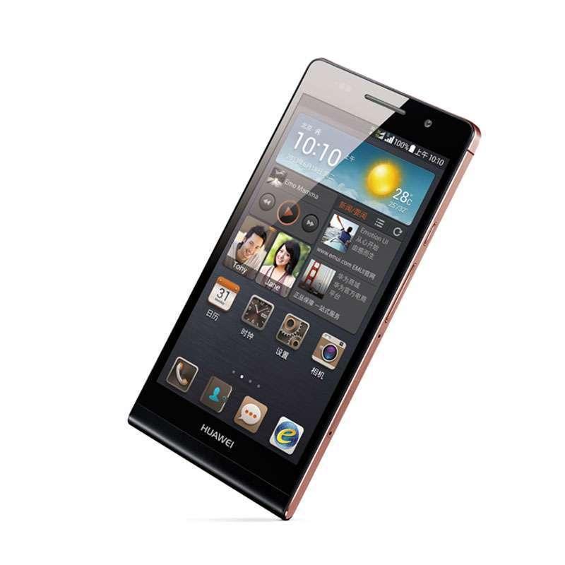 【华为手机 p6】华为手机p6-c00(黑色)(玫瑰金边框)