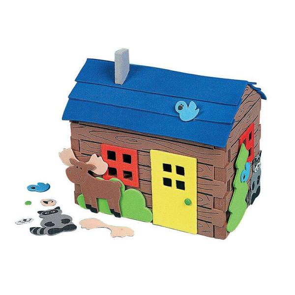 dms大贸商 eva手工制作立体房子组合套 儿童diy创意粘帖 4个-ef00815