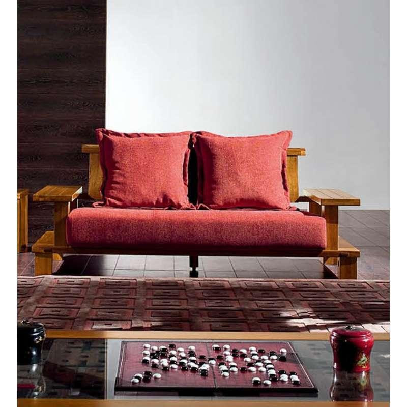 惠宜家居 新中式沙发 布艺沙发胡桃木全实木沙发实木沙发官帽沙发特价