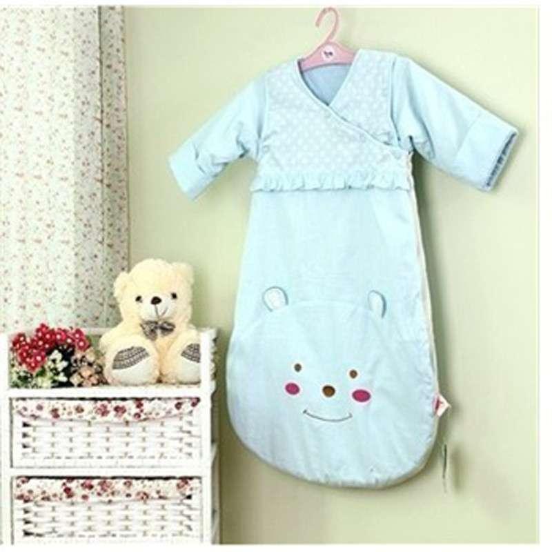 睡王 可爱的小免宝宝精梳棉造型长袖长款宝宝睡袋/婴儿睡袋/儿童睡袋