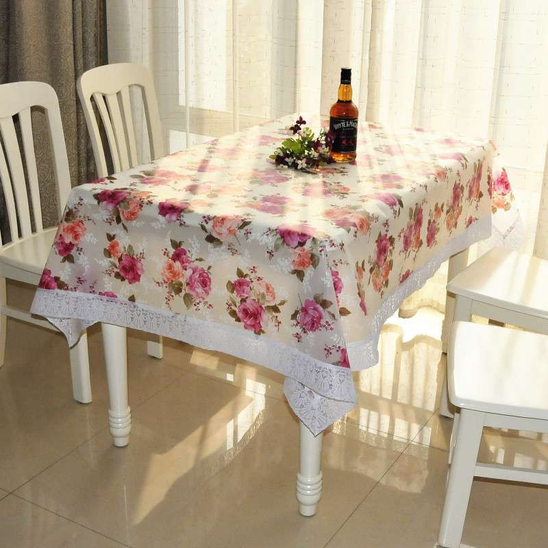 pvc蕾丝花边免洗桌布 餐桌