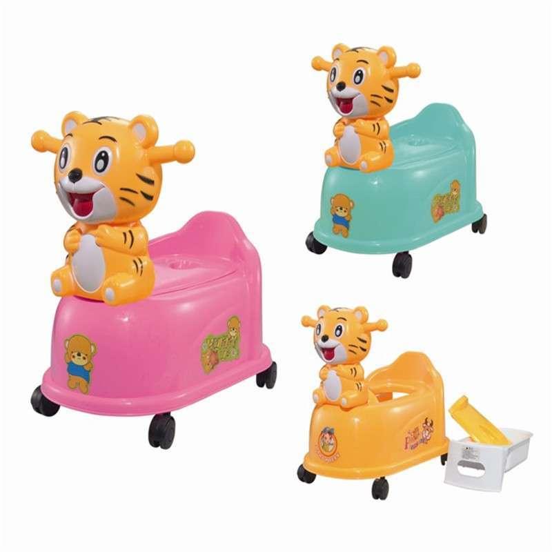 婴童星小老虎卡通宝宝坐便器儿童座便器婴儿马桶音乐带轮