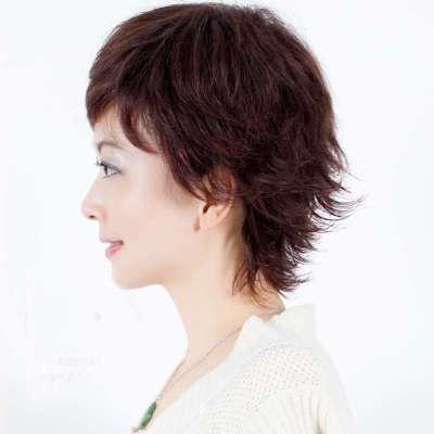 真发假发短发女士假发真人发丝 短发有点小反翘发型jiafa图片