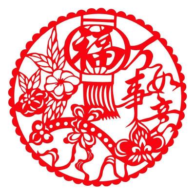 万事如意福ebf2204剪纸贴新年窗花门贴春节
