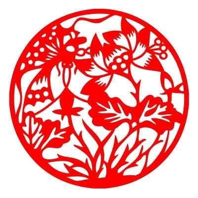 荷上蜻蜓ebg2015剪纸窗贴春节窗花玻璃贴-春节民俗剪纸大赏 新华网