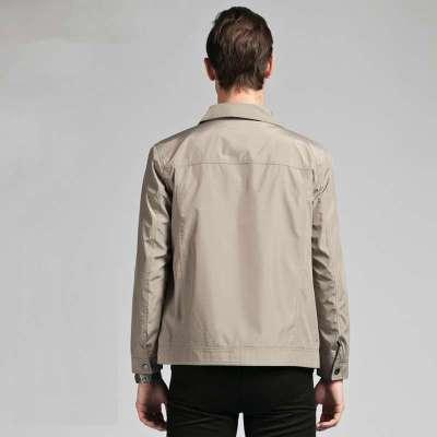 杉杉女装春装_杉杉正品2014春装新品 青年商务jacket 男士翻领夹克外套j32304 浅