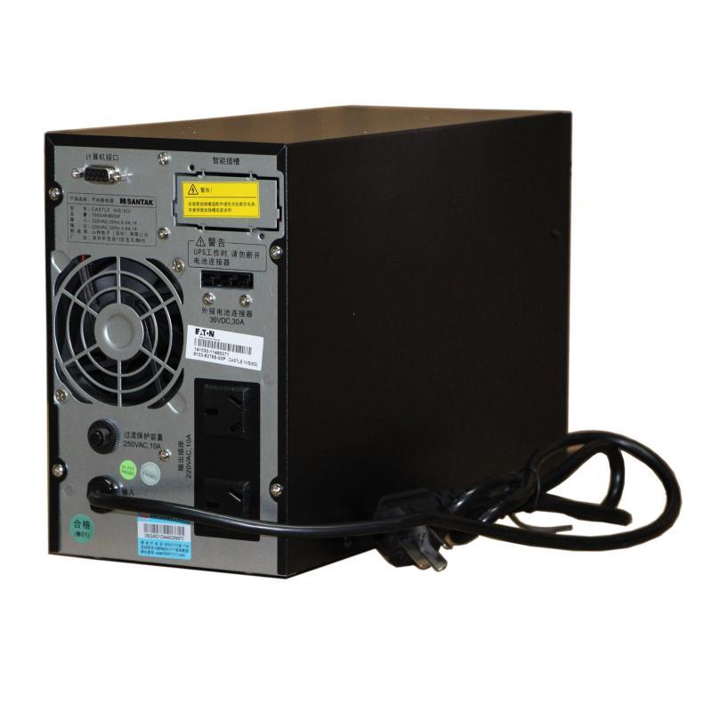 山特c1ks 1kva/800w ups不间断电源长延时需外接蓄电池
