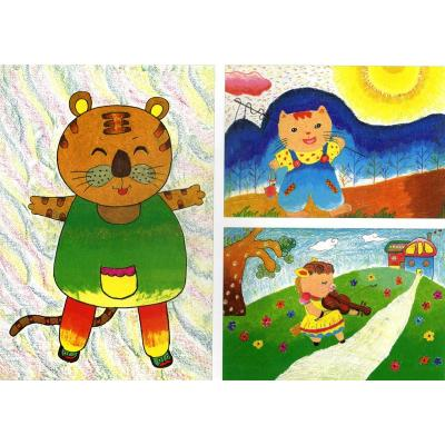 狐狸儿童绘画_绘画分享-儿童画 船 第7页 绘画分享图片