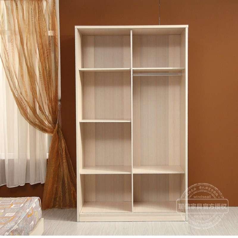 瑞信家具推拉门衣柜 现代简约木质吊滑移门 宜家风格 银线木