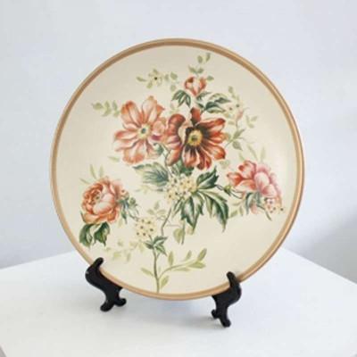 手绘装饰盘桌面摆件陶瓷圆盘