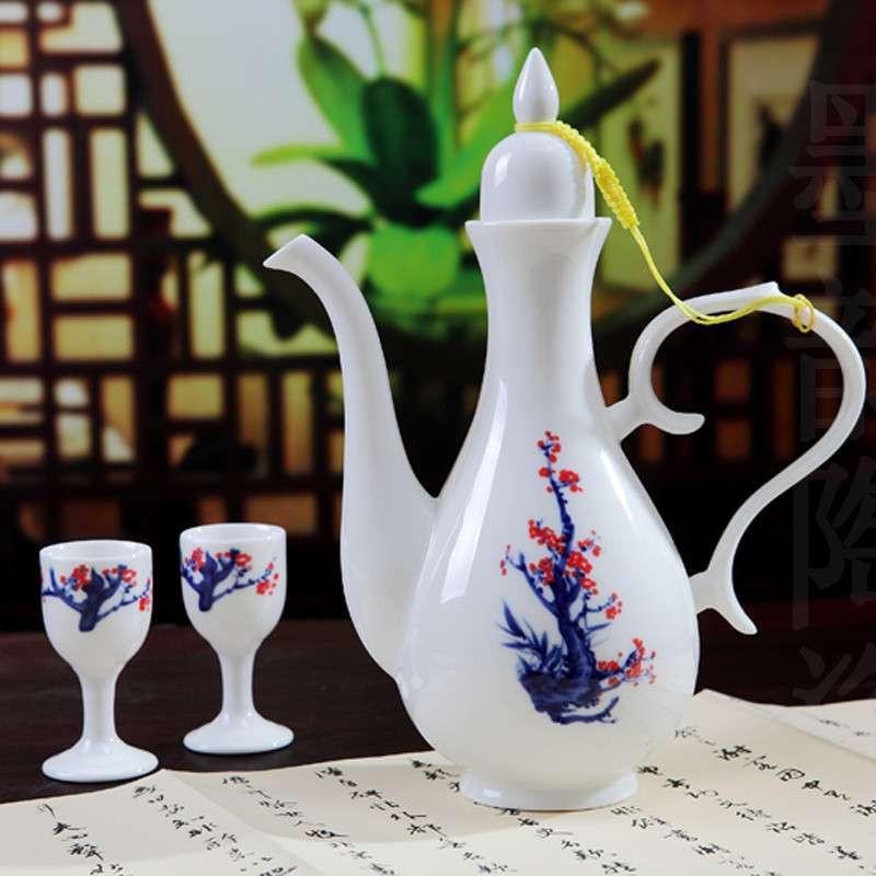 凤卜 腊梅 白酒杯套装酒具/景德镇品牌陶瓷