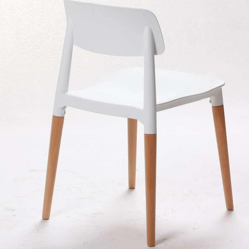 霍客森才子椅 餐椅 设计师椅子时尚 实木低背 欧式休闲椅子创意 白色