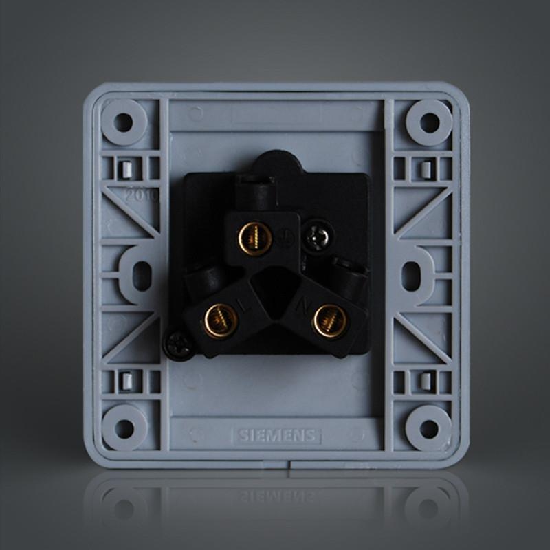 西门子开关插座面板 远景彩银 空调16a三孔插座面板