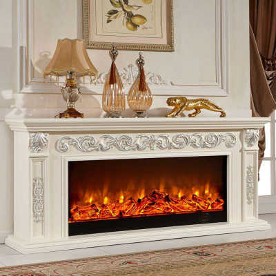 1.8米欧式壁炉装饰柜 美式电视柜 实木电假壁炉架柜仿真火壁炉芯 深色