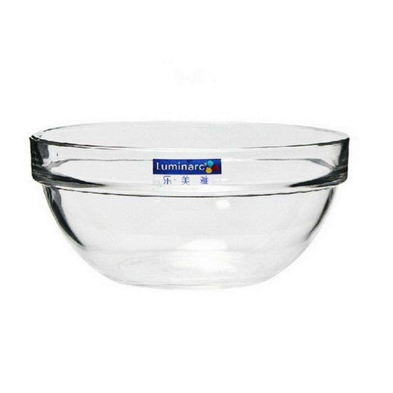 乐美雅可碟透明玻璃沙拉碗8件套