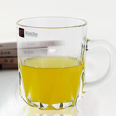 杯子水杯无铅玻璃杯冰啤酒杯248ml扎啤杯 创意果汁杯牛奶杯饮料杯