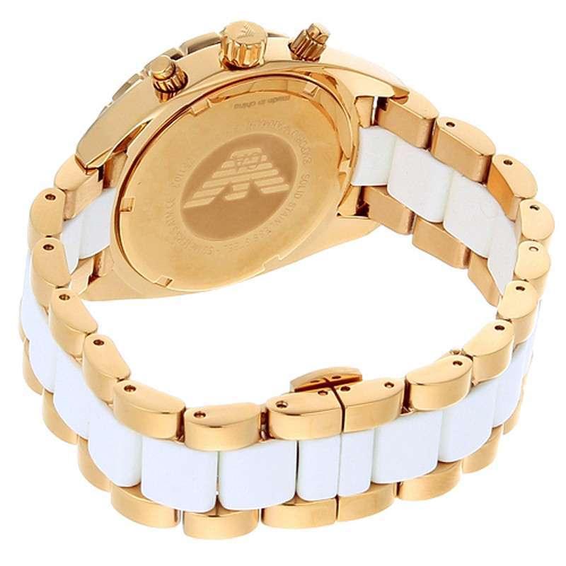 阿玛尼armani女士手表石英表新款典雅金色腕表ar5944高清实拍图