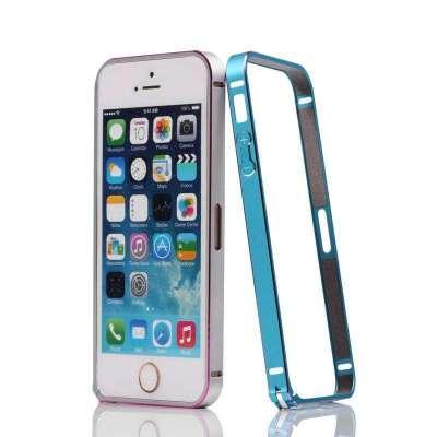 iphone5s金属边框 5s保护壳 5s保护套超薄 苹果5s海马扣 烈焰灰