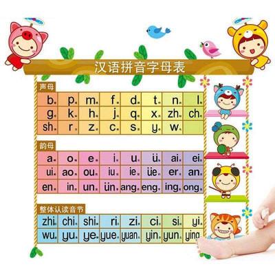 可移除装饰墙贴纸【汉语拼音】字母表儿童学习贴幼儿
