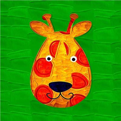 卡通动漫趣味动物壁画家居卧室床头挂画儿童房客厅