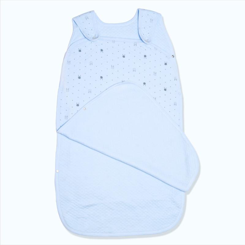 婴儿睡袋春夏款 宝宝睡袋夏季薄款 儿童背心睡袋 纯棉