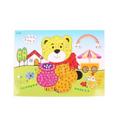 大贸商钻石画儿童创意diy手工制作水晶马赛克贴画小熊吃蜂蜜款 ef25