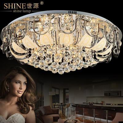 世源现代简约水晶灯吸顶灯欧式大客厅灯餐厅灯饰卧室