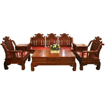 吕可可仿古典红木家具花梨木客厅沙发茶几实木套装组合 沙发六件套