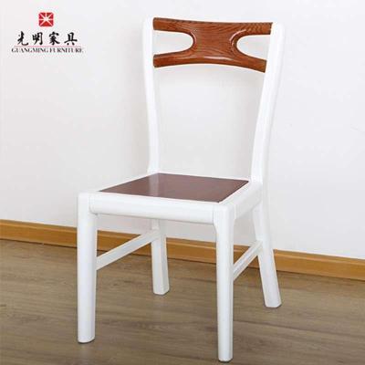 光明实木家具简约餐桌椅组合 水曲柳木质面板 实木餐桌椅一桌四椅1.