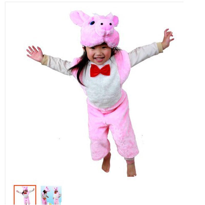 六一儿童节动物服装 动物表演服饰 质量超好 灰老鼠装扮 粉猪衣服