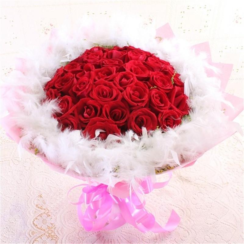 红玫瑰欧式鲜花花束图片