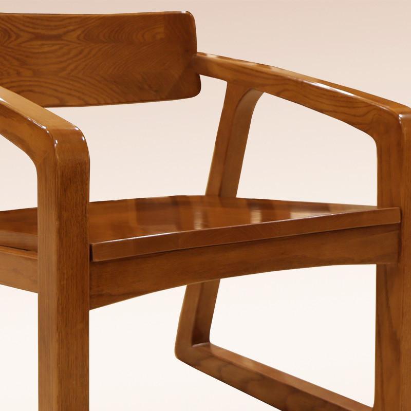 光明家具 现代简约中式高端橡木休闲椅休闲凳 实木椅子 凳子 餐椅书房图片