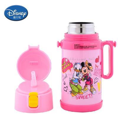 婴儿保温杯带吸管手柄迪士尼水壶米奇幼儿水瓶宝宝水杯儿童吸管杯