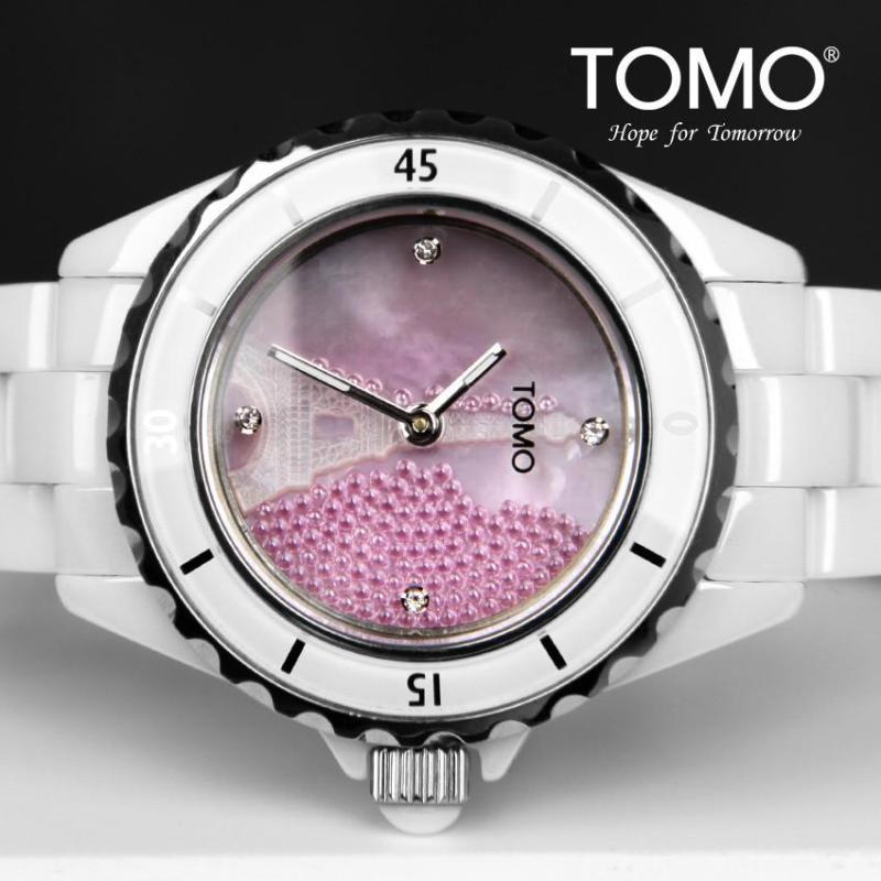 粉色埃菲尔铁塔女士时装手表