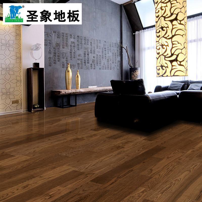 【圣象地板官方旗舰店地板】圣象康逸三层实木复合nk
