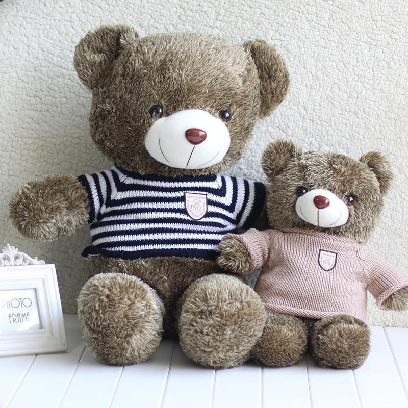 安吉宝贝 正版泰迪熊毛绒玩具熊超大号抱抱熊可爱布娃娃玩偶毛衣熊