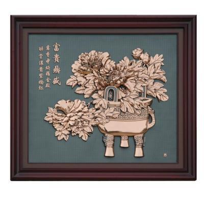 挂画结婚过年室内装饰画工艺壁画1070x960mm纯铜壁画