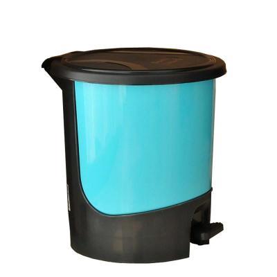 继红 炫彩创意时尚圆形脚踏垃圾桶 环保卫生纸篓清洁桶 大号颜色随机