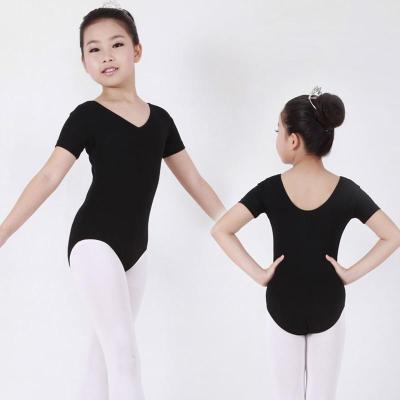 美7新款儿童芭蕾舞蹈服装女童短袖连体体操服芭蕾舞考级服练功服 粉色