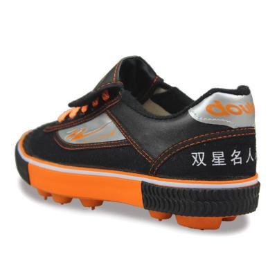 青岛双星double star 2014帆布夏季胶钉帆布足球鞋