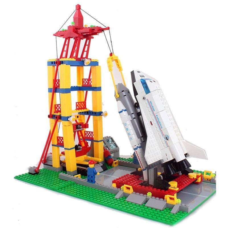 儿童玩具积木 航天飞机发射中心 515片小颗粒拼插积木