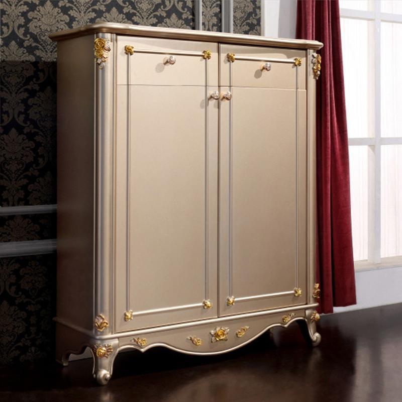 法丽莎家具y1欧式鞋柜欧式香槟金鞋柜古典鞋柜实木储